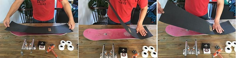Applying grip tape to your skateboard deck