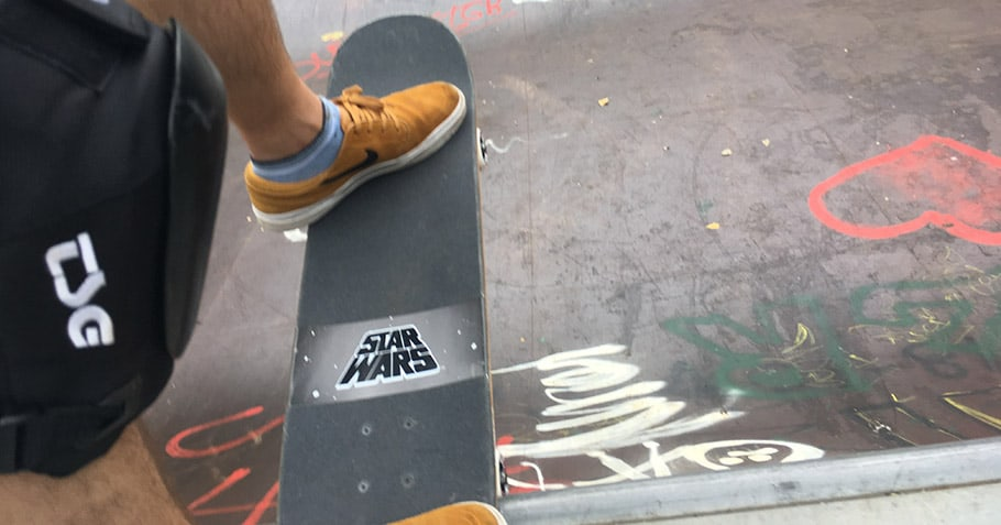 doing a drop in on a skateboard after a long time