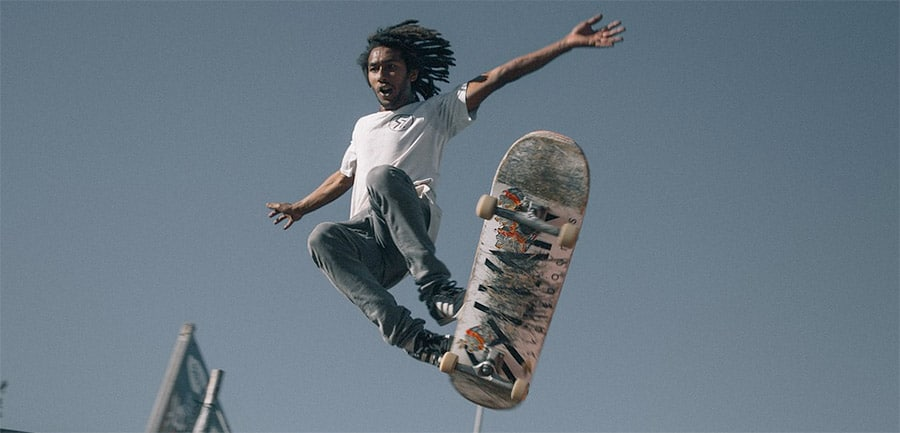 skateboarder learning how to get better